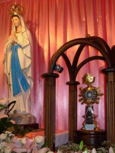 Reliquia a Lourdes